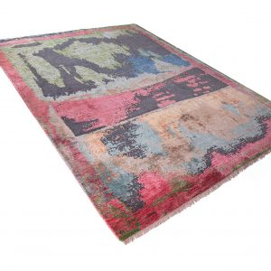 fars-designerteppich-Schurwolle-mit-Seide-rot-gruen-453419